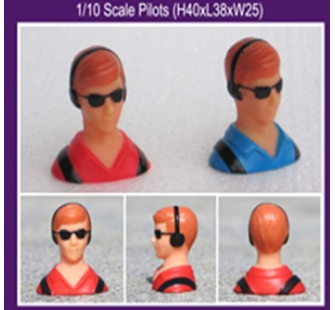 Pilote maquette 1/10e Rouge - G-001A-RED-COPY-1