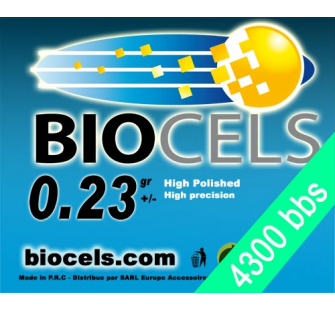 Biocels - Bille BIO Degradable 0.23g blanche 1kgr (4300 bbs) - BCS-23K01