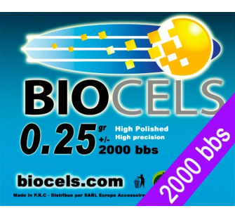 Biocels - Bille BIO Degradable 0.20g blanche 1kgr (4000 bbs) - BCS-25K01-COPY-1