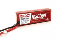 Reaction 7.4V 5000mAh 2S 50C LiPo, Hardcase:EC3 - DYNB3802EC