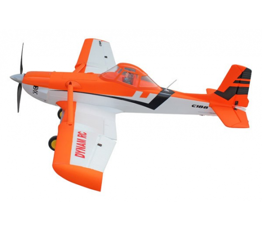 DYNAM CESSNA 188 ORANGE 1500mm w/o TX/RX/Batt - DYN8967O