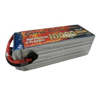 Gens ace 10000mAh 22.2V 25C 6S1P Lipo Battery Pack for DJI S800 - B-25/50C-10000-6S1P