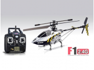Helicoptere RC SYMA F1 2.4G 3 canaux avec gyro (Argente) - 11330