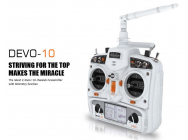 Radio DEVO 10 White version (Extended range) with RX (Mode1) Walkera - WALDEVO10WHITE-M1