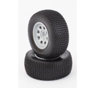 Tyres And Wheels (Mounted) Silver (2) - HLNA0415 - HLNA0415