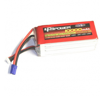 LPB power 22.2V 10000mAh 25C (EC5) - LPB1000/25-6S