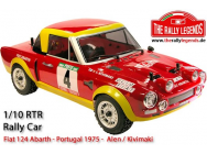 Fiat 124 Abarth Portugal 1975 1/10e RTR Kit Rally Legends - RALEZRL124