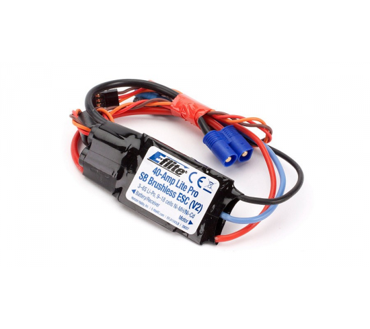 E-Flite Controleur Brushless 40A Lite Pro Switch-Mode BEC Brushless ESC  - EFLA1040LB