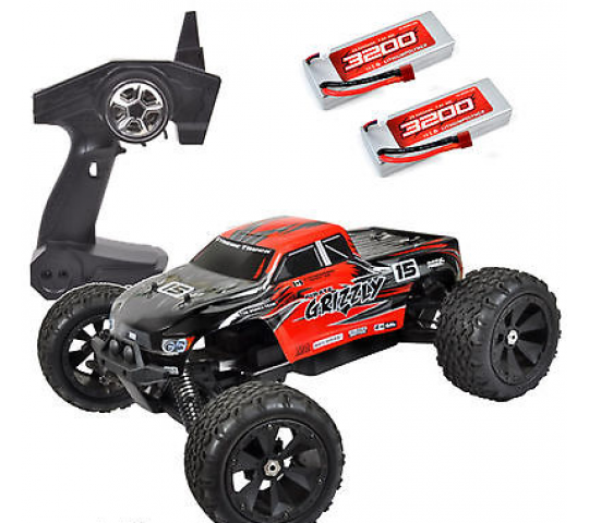 Pirate Grizzly - Monster Truck RC Brushless 1/8 4WD 3 differentiels RTR 2,4GHz - T4915