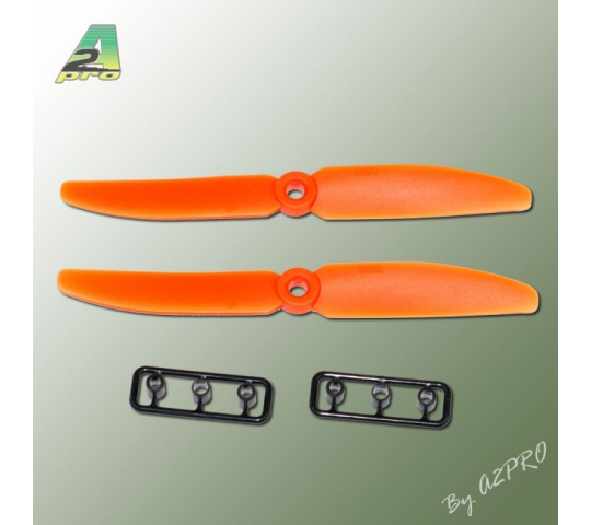 Helice Gemfan Slow Fly orange – 5 x 4 CW (2 pcs) - A2P-GO5050040