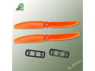 Helice Gemfan Slow Fly propulsive orange – 5 x 4 CCW (2 pcs) - A2P-GO7050040