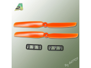 Helice Gemfan Slow Fly propulsive orange – 6 x 3 CW (2 pcs) - A2P-GO7060030