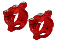Support de tube carbone alu rouge Pod 250 - Rakon Heli