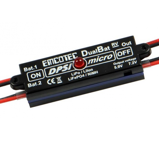 DPSI Micro DualBat 5.9V/7.2V MPX -  (Double Alimentation - Regulateur) - EMC-DPSI-A11053