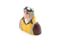 1/6 Scale WWII Pilot with Vest, Helmet & Goggles - HAN9132