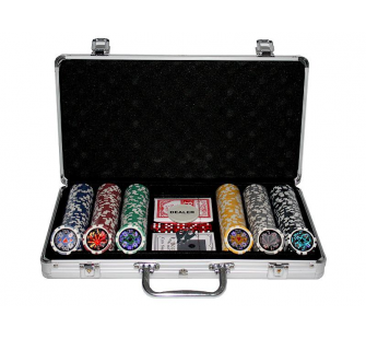 300 Poker Chips with Aluminiumcase (11,5 Gramm, Chips LASER) - MKT-12397