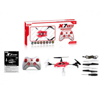 Quadricoptere SYMA X7 2.4G 4 canaux avec gyro (Spaceship Red) - MKT-12223