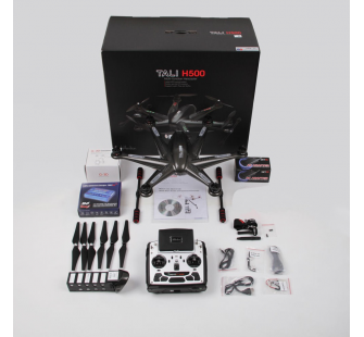 QR TALI H500 Black Carbon FPV RTF Gimbal et Camera iLook DEVO F12 Mode 1 Walkera - WALH500BK-RTF1-COPY-1
