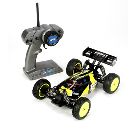 Team Losi Buggy Mini 8IGHT Eight 1/14 Brushless RTR Losi Noir - LOSB0224iT1