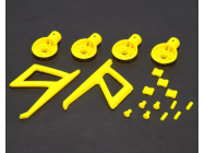 MR200 Motor Mounts and Parts set (Jaune)  - Blade 200QX - MR200P06-Y - MR200P06-Y