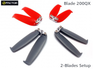 200QX Double-Blades Prop set ( 4 Blade Grips, 12 Blades) - HeliFactor - HF200QX02