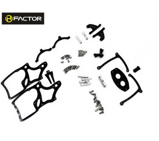 Spare Carbon Panels & Parts - Trex 150 chassis - HeliFactor - HFA15001P1