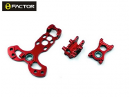 Spare Metal Parts (Red)- T150 Chassis - HeliFactor - HFA15001P2