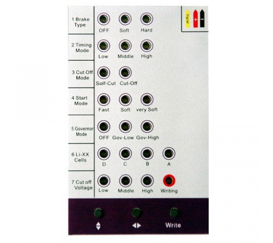 carte programmation esc universelle Carte de programmation ESC Avions   Emax   EMX SC 0508 | Miniplanes