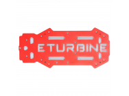 Plaque de chassis superieure optionnelle aluminium rouge TB250 eturbine