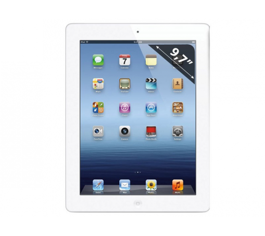 APPLE iPad 4 GSM  - Ecran Retina - Tablette Tactile 9.7   Capacitif - Wifi - 16 Go - iOS - Blanc - Refurbished France - DSK-APPLE-IPAD4C-16Go-BLANC