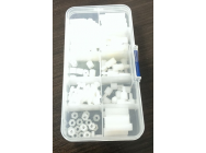 M3 Nylon Hex Spacers Screw Nut Assortment Kit Accessories Set - 080550