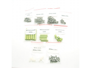 250 Quadcopter Frame Kit Pure Carbon Fiber Parts - All the screws and aluminum post - EMX-AC-0258