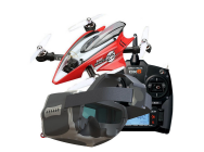 Pack Mach 25 FPV Racer Eflite   DX6 SPM6700   Casque FPV Head Play