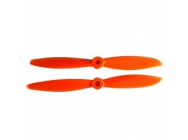 Helices 5x4.5 CW + CCW ORANGE - HS-5045O-COPY-1