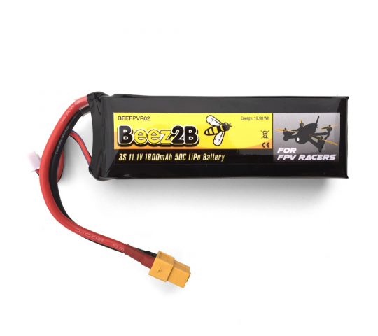3S 11.1v 1800mAh 50C Lipo Battery for FPV racer
