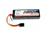 Accu Lipo Python Plus  Car 35C 5000mAh 2S 7.4V Hard Case - RC-PPC35-5000-2SX