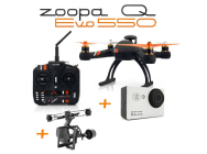 Combo Zoopa EVO Q 550 + gimbal 2 axes + Camera GoXtreme - BDL-Q550G2