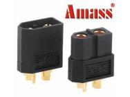 Amass XT60 Bullet Connector Plugs For RC Battery Motor Black - 274618