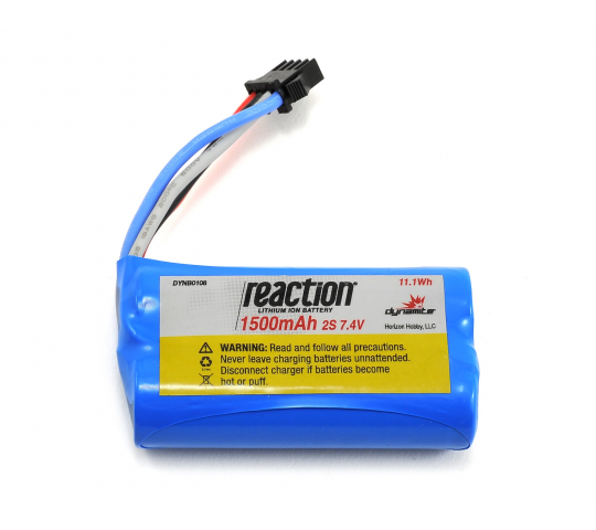 7.4V 1500mAh 2S LiIon: PRB React 17 - DYNB0108