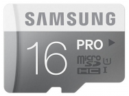MicroSDHC 16Go Samsung CL10 PRO w/o Adaptateur UHS-1 - Sous blister - 12753