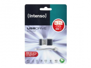 Cle USB 32GB Intenso FlashDrive Slim Line 3.0 - blister noir - 12422