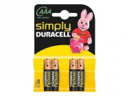 Pack de 4 piles Duracell Simply MN2400/LR03 Micro AAA - 11889