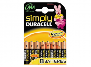 Pack de 8 piles Duracell Simply MN2400/LR03 Micro AAA - 11919