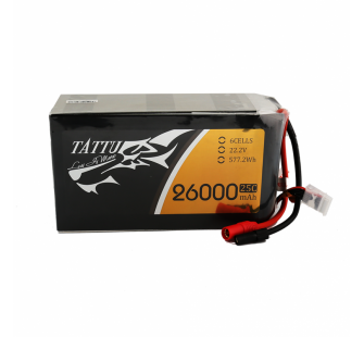 Tattu 26000mAh 22.2V 25C 6S1P Lipo Battery Pack - TA-25C-26000-6S1P