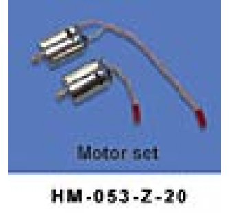 HM-053-Z-20 Set 2 moteurs Swiss Heli Walkera - HM-053-Z-20